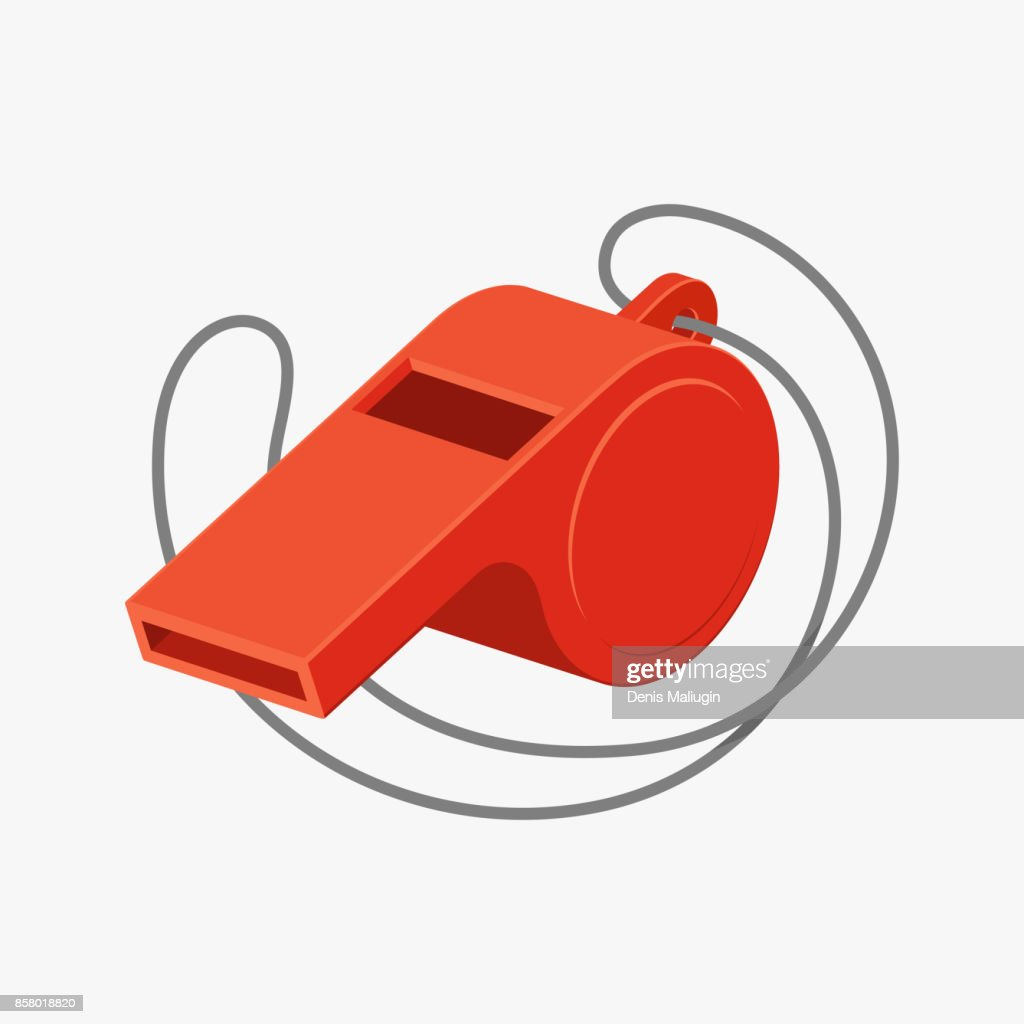 Referee whistle vector illustration