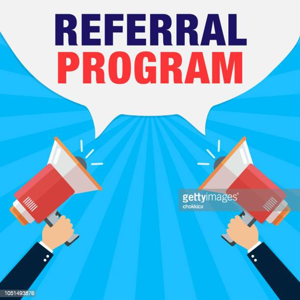 referral program - computer software stock illustrations