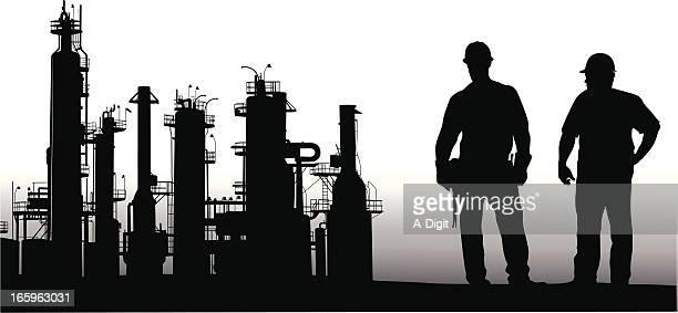 ilustrações, clipart, desenhos animados e ícones de refinaria - cinto de ferramentas