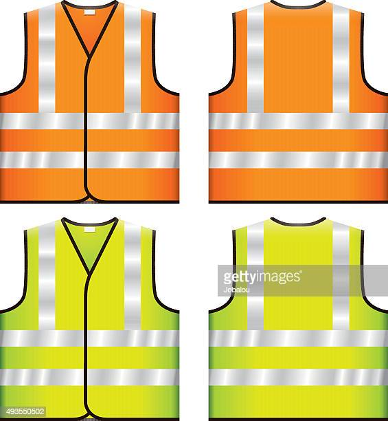 reflective safety vest - waistcoat stock illustrations, clip art, cartoons, & icons