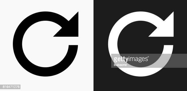 Vernieuwen pijlpictogram op zwart-wit Vector achtergronden