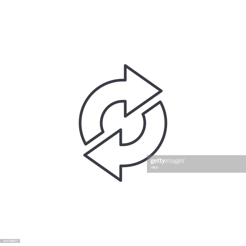 Refresh Arrows, sync, exchange thin line icon. Linear vector symbol