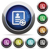 Refresh contact round glossy buttons