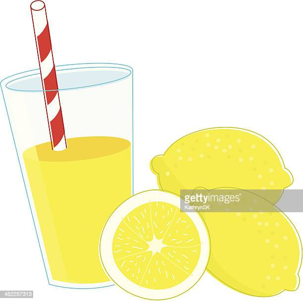 Refreshing Glass of Lemonade with Lemons
