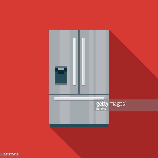 冷蔵庫フラット デザイン家電アイコン - 冷蔵庫点のイラスト素材/クリップアート素材/マンガ素材/アイコン素材