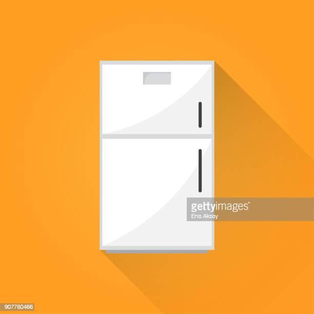 冷蔵庫フラット アイコン - 冷蔵庫点のイラスト素材/クリップアート素材/マンガ素材/アイコン素材