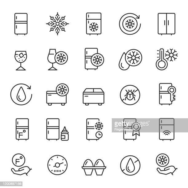 冷蔵庫アイコンセット - 冷凍庫点のイラスト素材/クリップアート素材/マンガ素材/アイコン素材