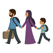 Refugee migrant family