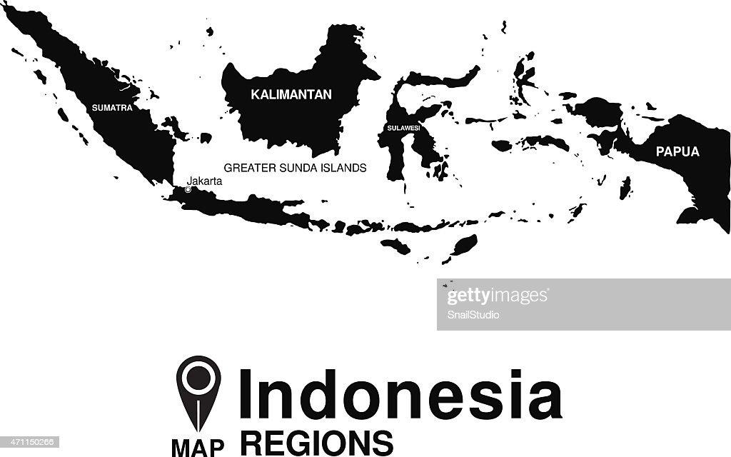 Regions map of Indonesia