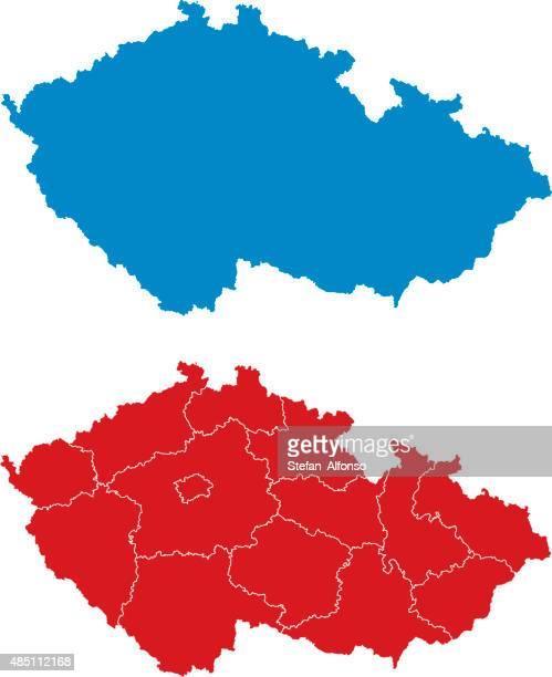regions of the czech republic - czech republic stock illustrations
