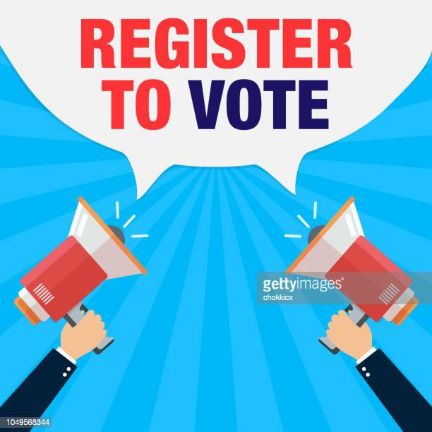register to vote - voter registration stock illustrations