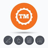 Registered TM trademark icon. Intellectual work.
