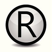 Registered trademark icon in black and white