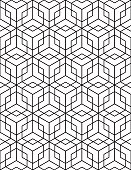 Regular contrast textured endless pattern with cubes, continuous