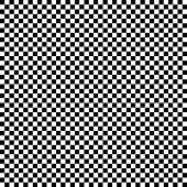 Regular pattern of squares in alternating black and white colors