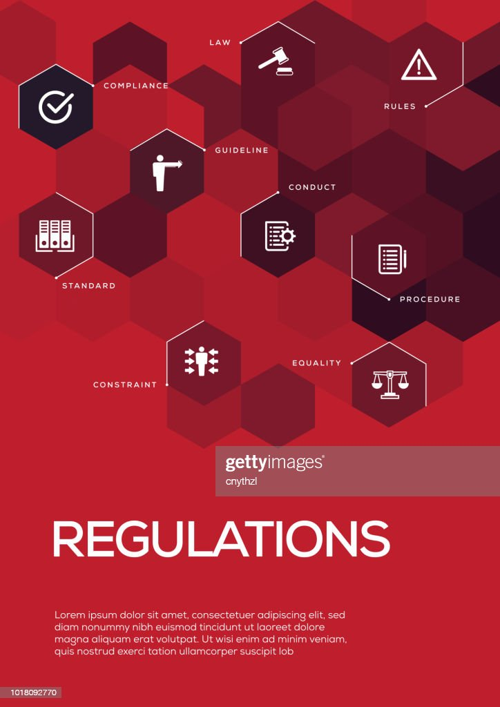 Regulations. Brochure Template Layout, Cover Design : stock illustration