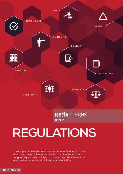 regulations. brochure template layout, cover design - office safety stock illustrations, clip art, cartoons, & icons
