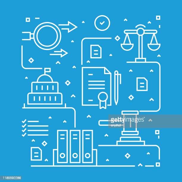 verordnungen konzept-design-vorlage. gliederungssymbol abstrakt - anweisungen konzepte stock-grafiken, -clipart, -cartoons und -symbole