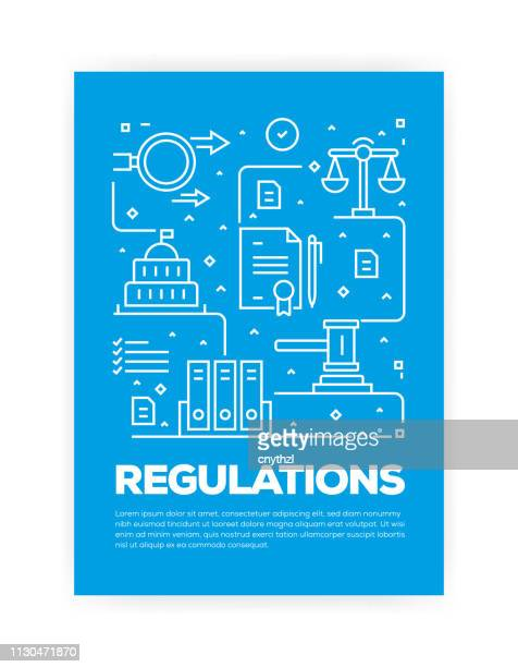 regulations concept line style cover design for annual report, flyer, brochure. - justice concept stock illustrations