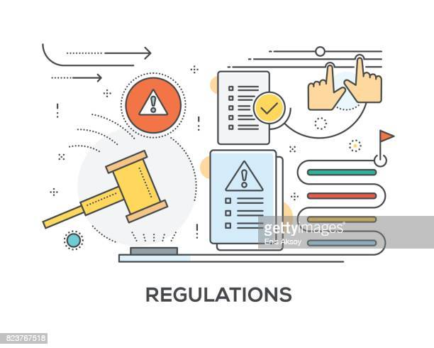 Regulations Concept with icons
