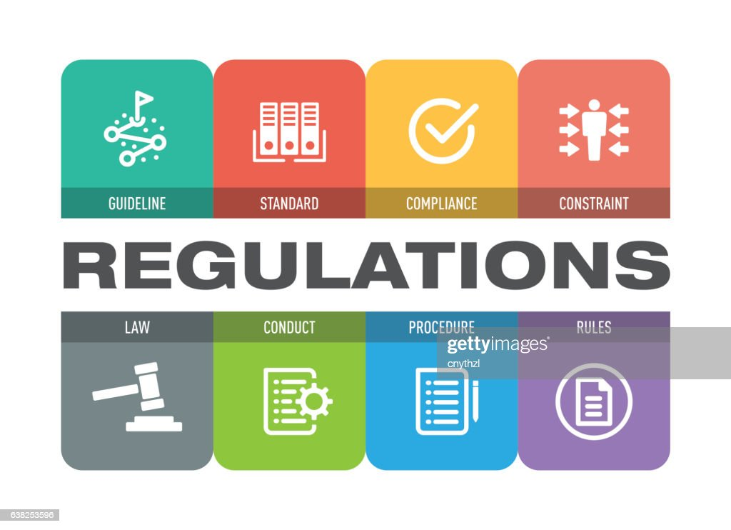 Regulations Icon Set