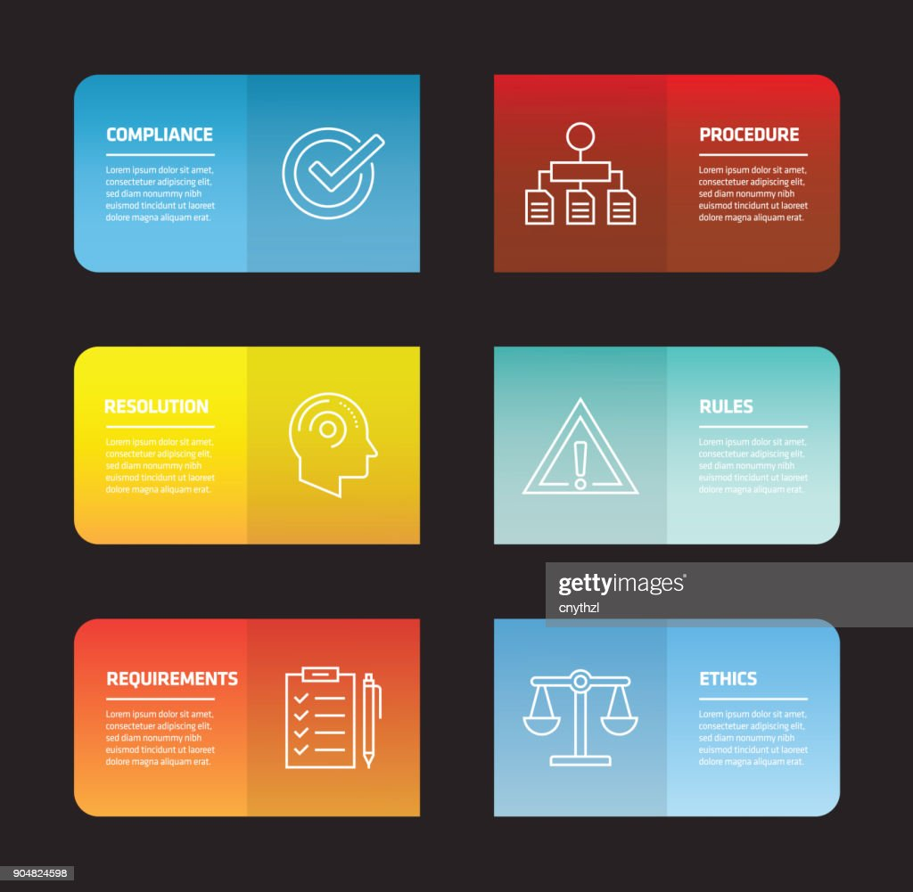 Regulations Infographic Design Template : stock illustration