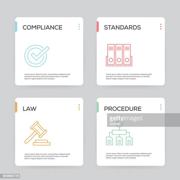 regulations infographic design template - office safety stock illustrations, clip art, cartoons, & icons