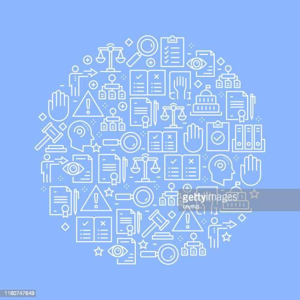 vorschriften verwandte muster-design - anweisungen konzepte stock-grafiken, -clipart, -cartoons und -symbole