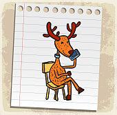 reindeer cartoon illustration