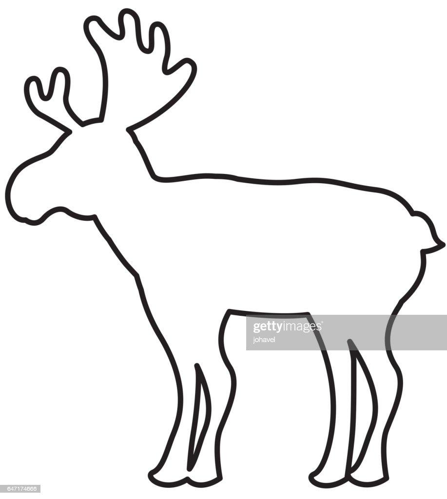 Rentier Weihnachten Silhouette Isoliert Symbol Vektorgrafik   Getty ...