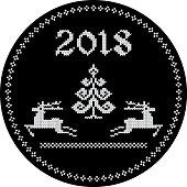 2018 reindeer tag