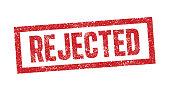 Rejected ink stamp