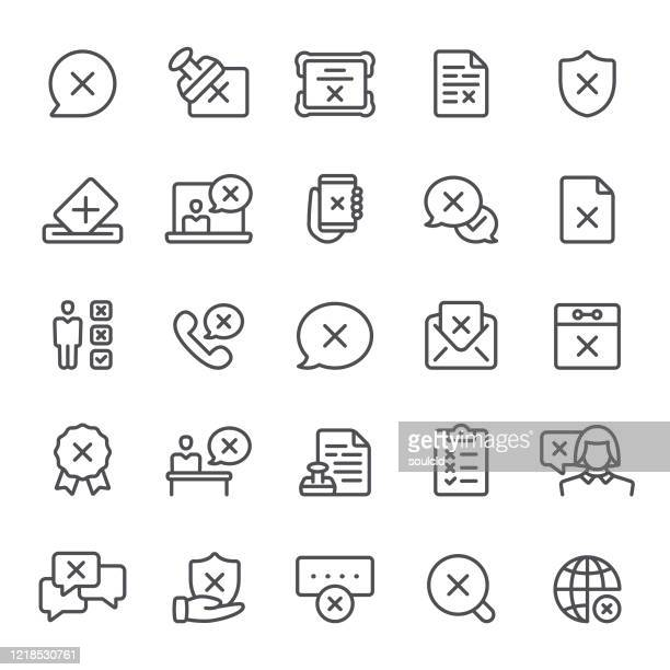 rejection icons - forbidden stock illustrations