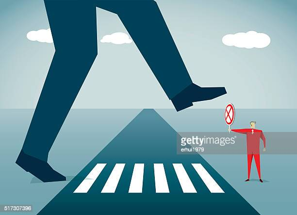 rejection - zebra crossing stock illustrations