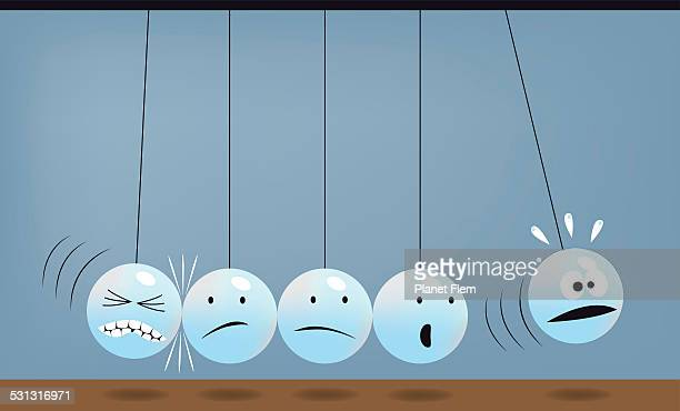 rejection - domino effect stock illustrations