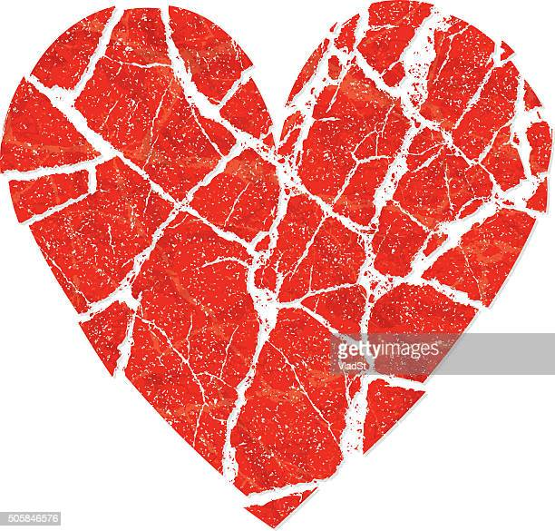 relationship breakup divorce crashed heart broken love - broken stock illustrations, clip art, cartoons, & icons