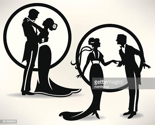 illustrations, cliparts, dessins animés et icônes de danse de couples amoureux ou un mariage - danse de salon
