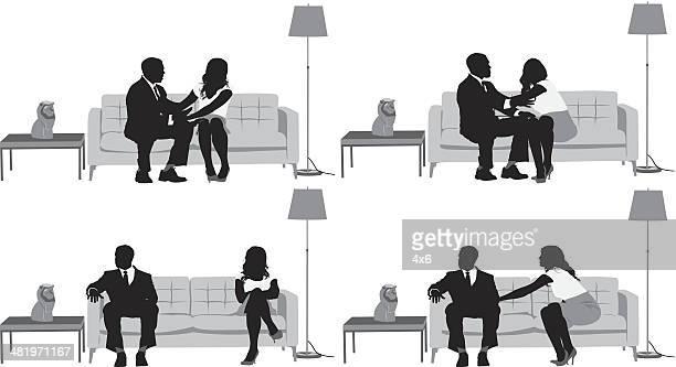 relationship difficulties - ignoring stock illustrations, clip art, cartoons, & icons