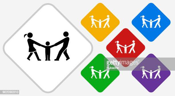 Relationship Problems Color Diamond Vector Icon