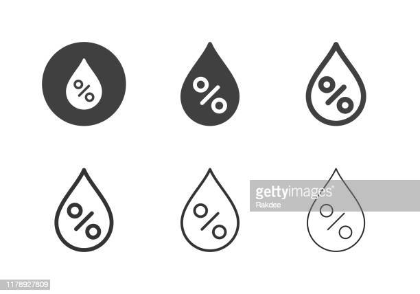 relative humidity icons - multi series - humidity stock illustrations, clip art, cartoons, & icons