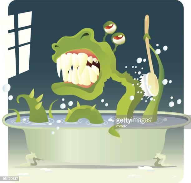 ilustraciones, imágenes clip art, dibujos animados e iconos de stock de baño de relajación - bañera con patas