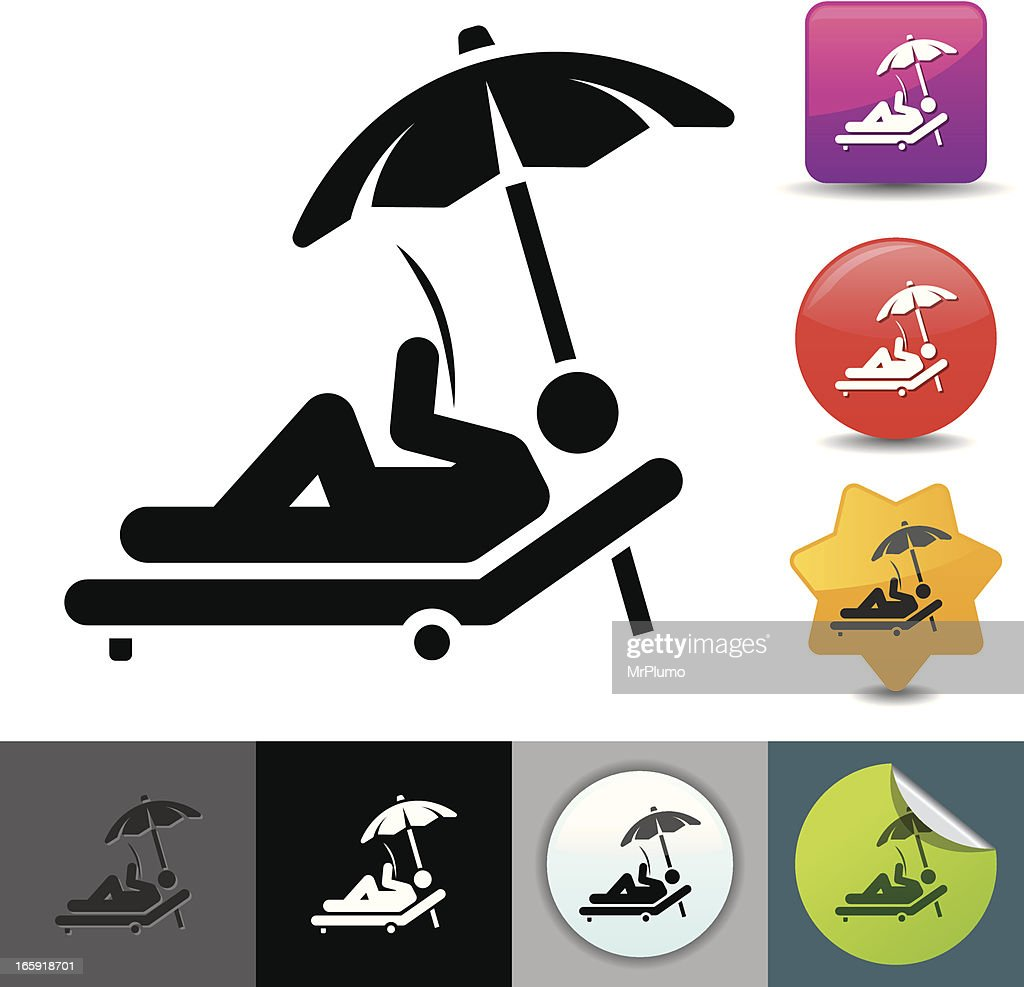 Relaxing in the lounge chair icon | solicosi series