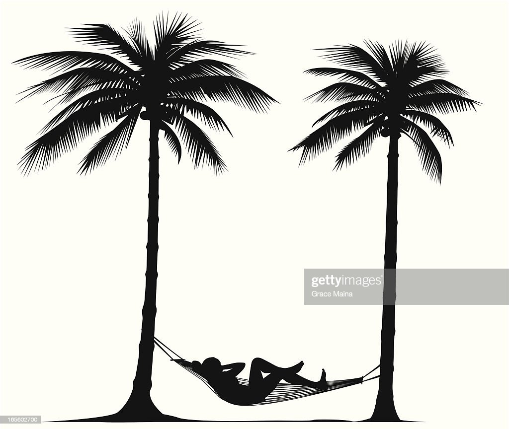 Relaxing under palm trees - VECTOR