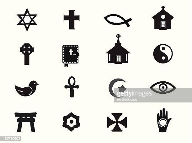 relgious icons - chapel stock illustrations, clip art, cartoons, & icons