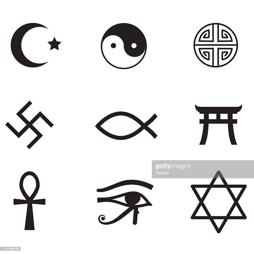 Religion icon set.