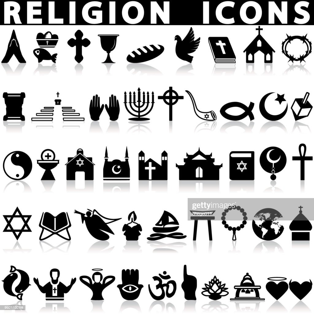 Religion icons set.