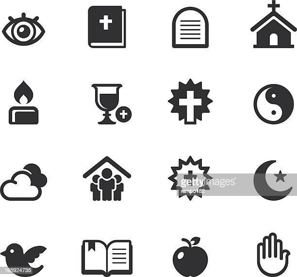 ilustrações, clipart, desenhos animados e ícones de religião ícones - bíblia