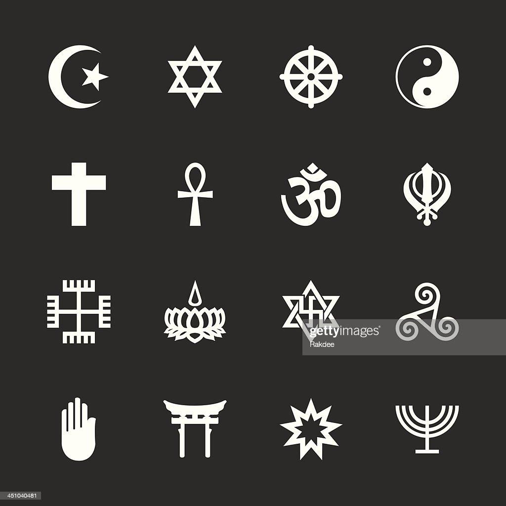 Religion Icons - White Series | EPS10