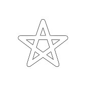 religion symbol, Wicca outline icon. Element of religion symbol illustration. Signs and symbols icon can be used for web, logo, mobile app, UI, UX