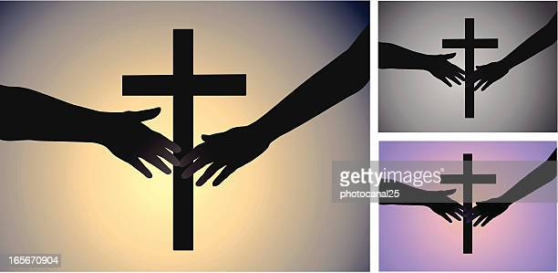 religious couple - forgiveness stock illustrations, clip art, cartoons, & icons